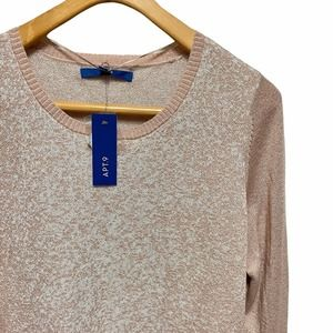 Apt. 9 rose gold shimmer sweater tunic top XXL